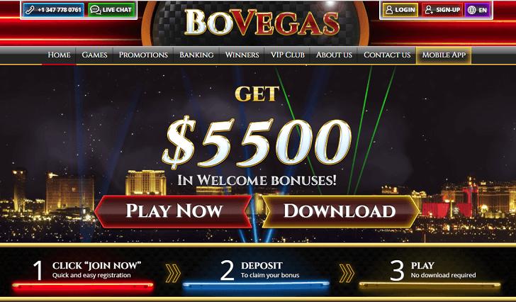 Online Casino USA - Bovada Casino $5500 in Welcome Casino Bonus